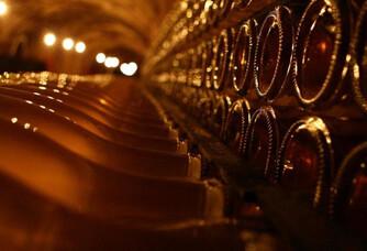 Les bouteilles en cave du Champagne Philipponnat
