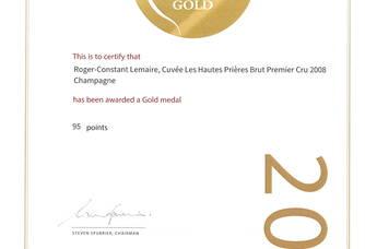 Récompense Décanter pour le Champagne Roger-Constant Lemaire