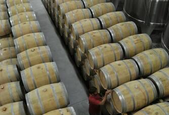 Vue en hauteur du chai des Vignobles Ducourt